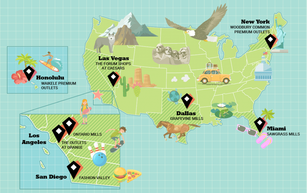 Of all the Simon Malls locations, these are our top eight in the USA