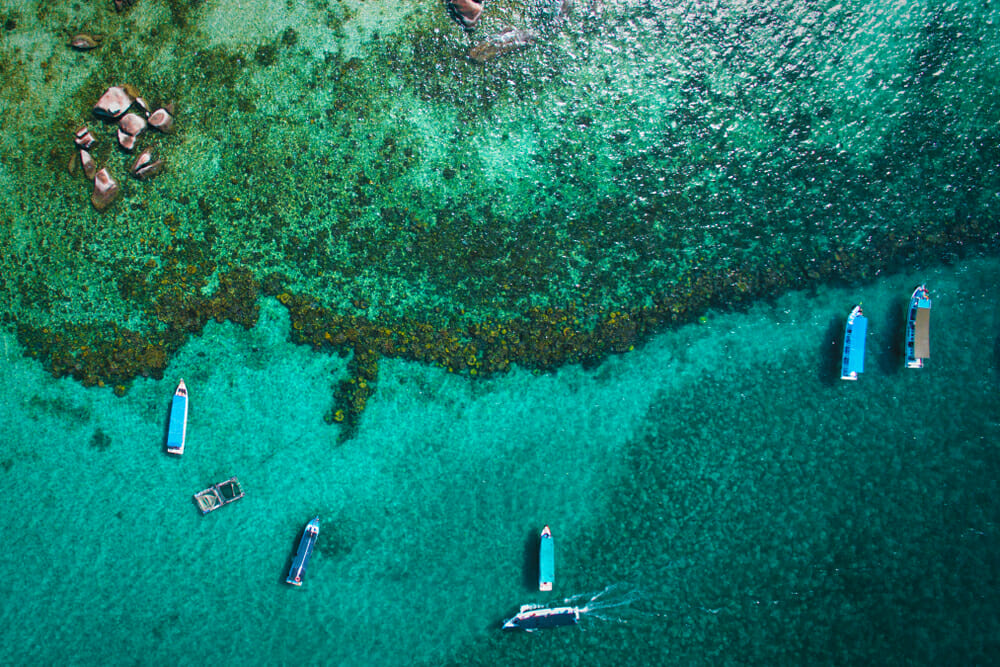 Belitung water from above