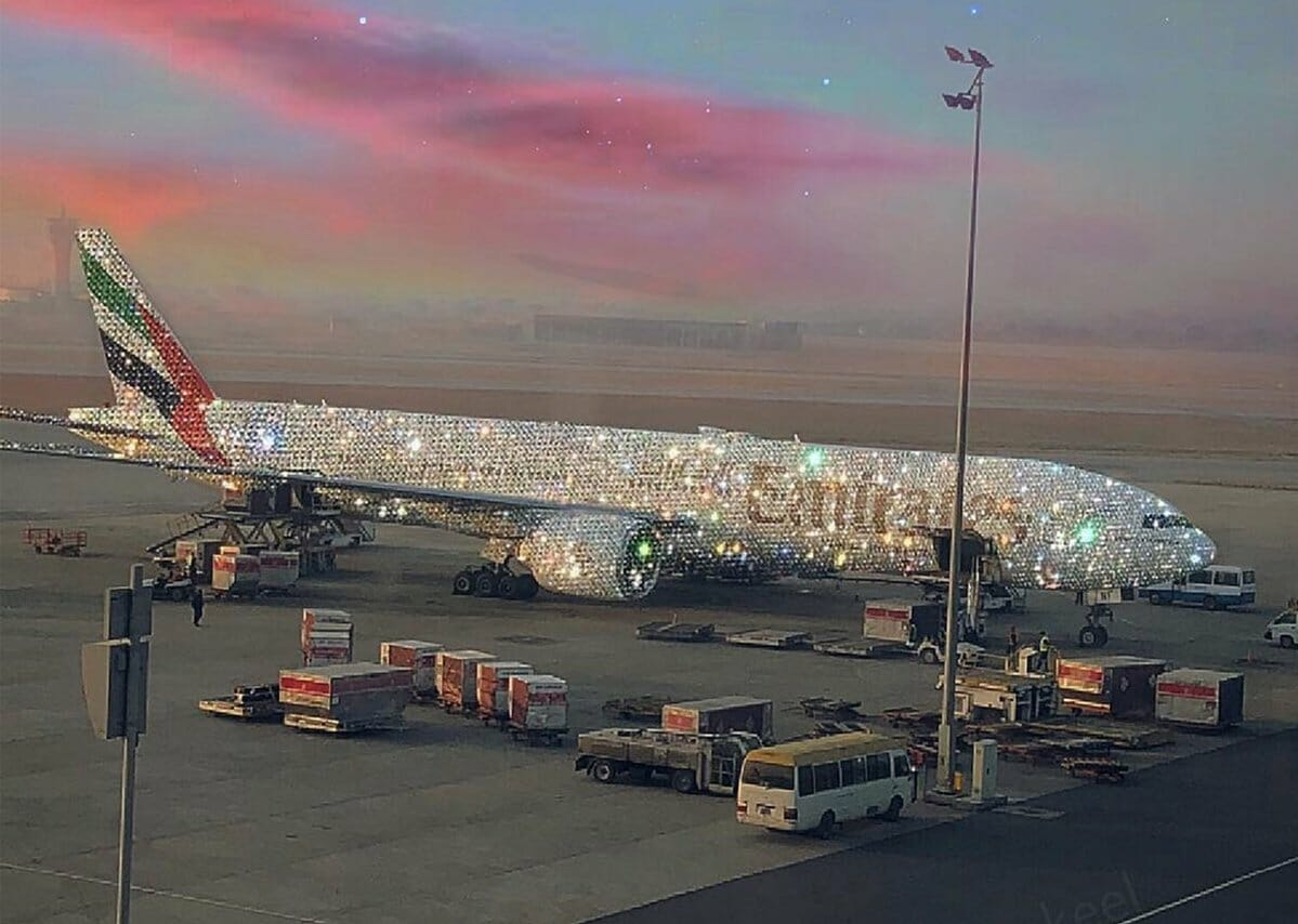 Presenting the Emirates 'Bling' 777. Image created by Sara Shakeel