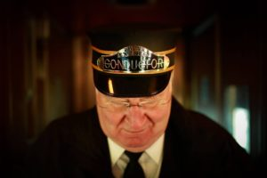 The conductor on the Polar Express. Picture: Helen McCabe