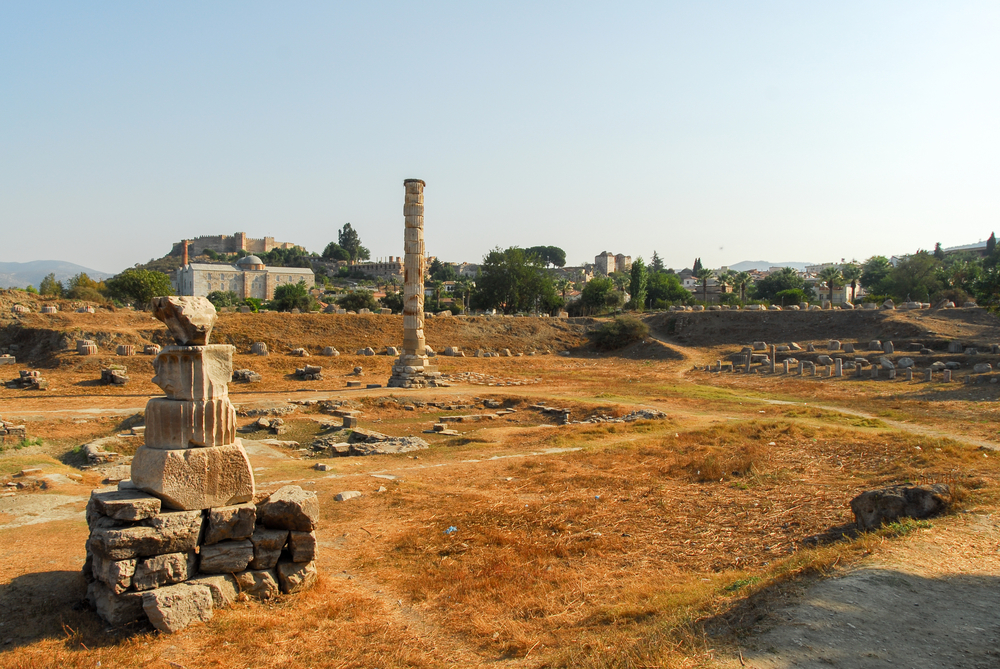 The Temple of Artemis ruins.