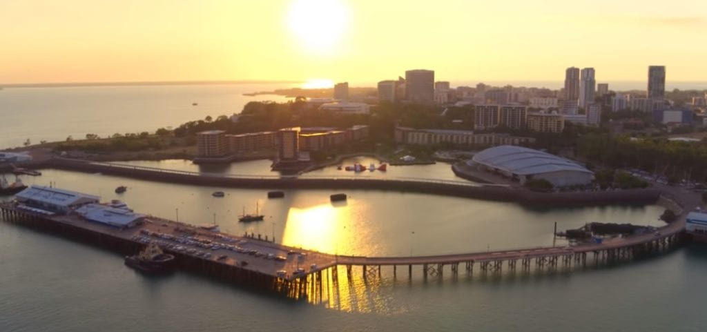 The city of Darwin in Top End Wedding