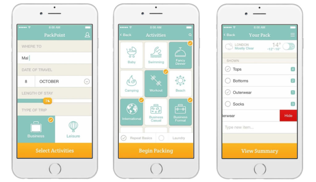 holiday planning apps
