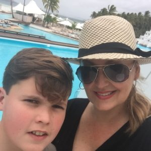 Melissa Hoyer on holiday with her son Conner.