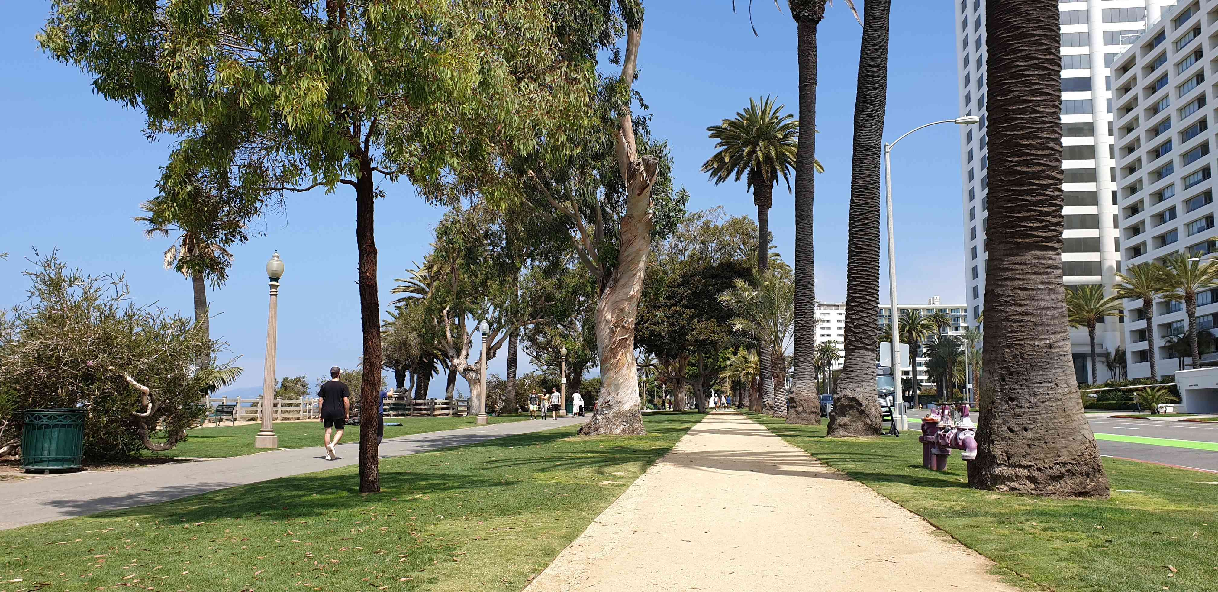 The ocean front park at Santa Monica LA