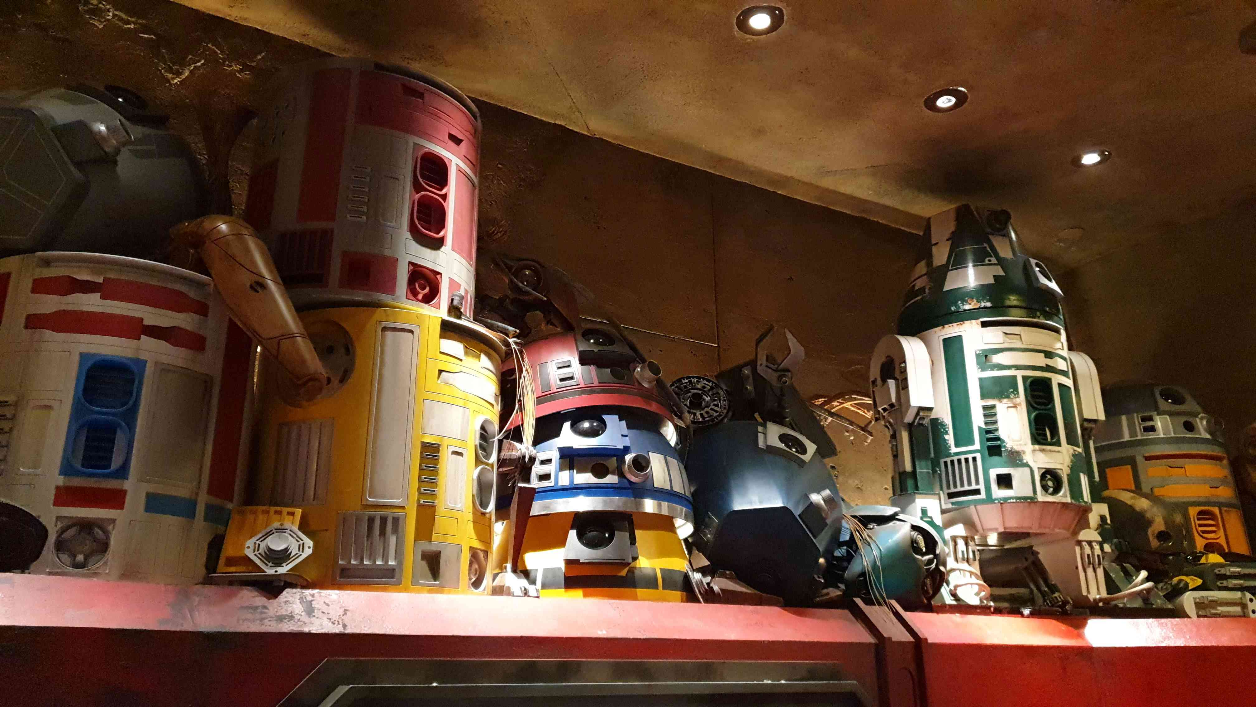 Inside the Droid Depot at  Star Wars: Galaxy's Edge.