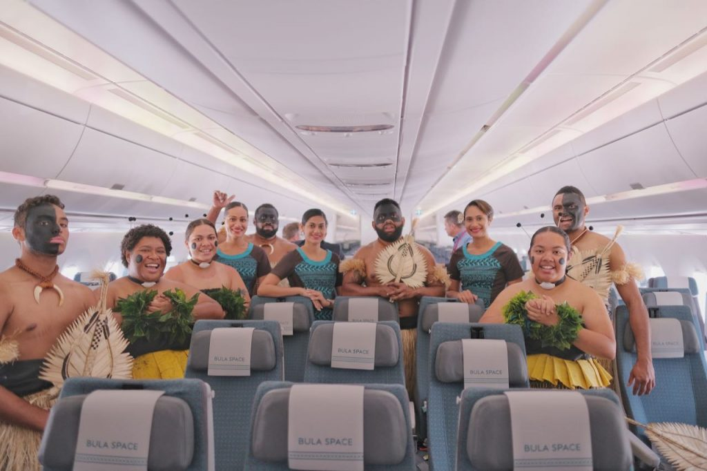 Bula from the Fiji Airways team onboard A350-900 XWB