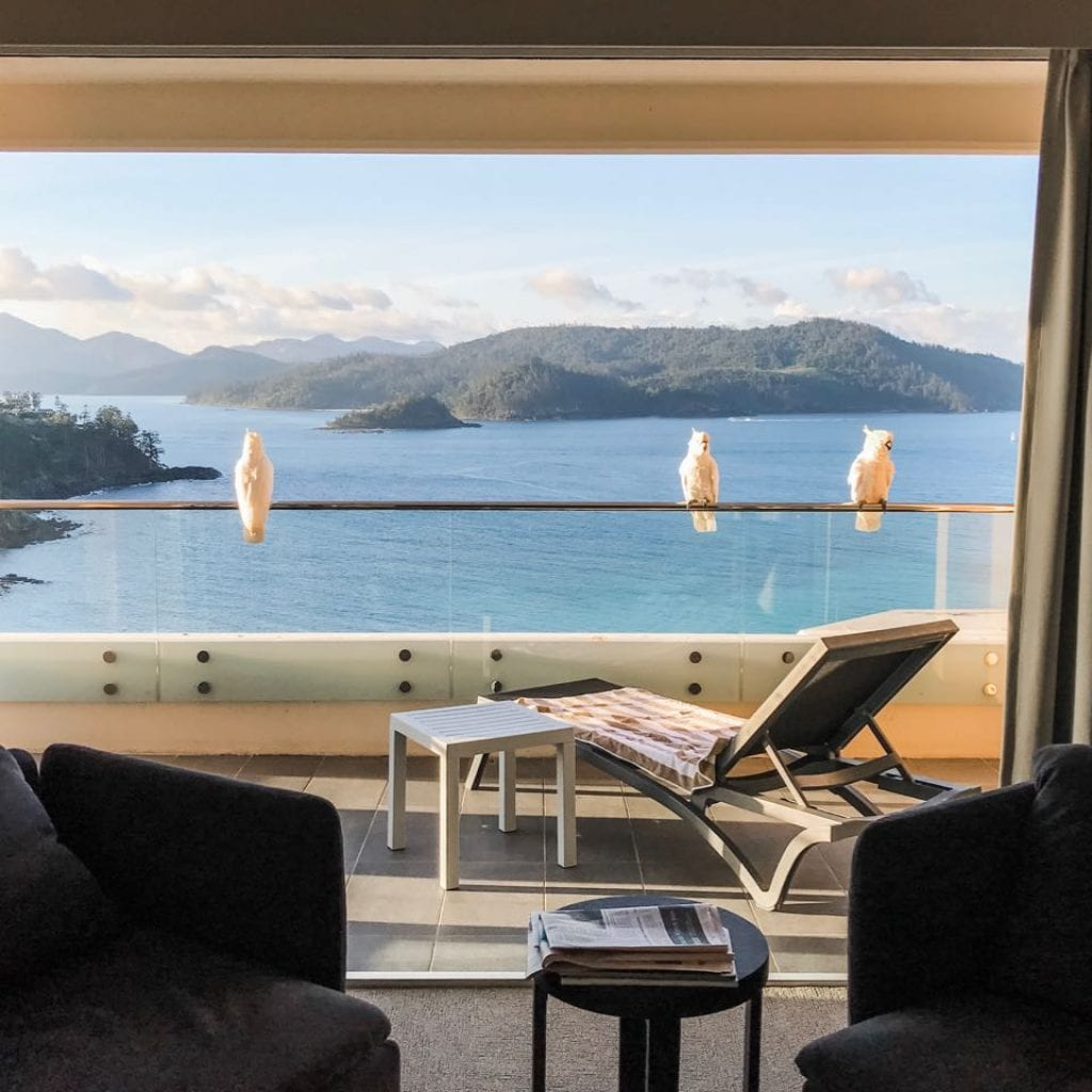 view from ReefView Hotel, Hamilton Island