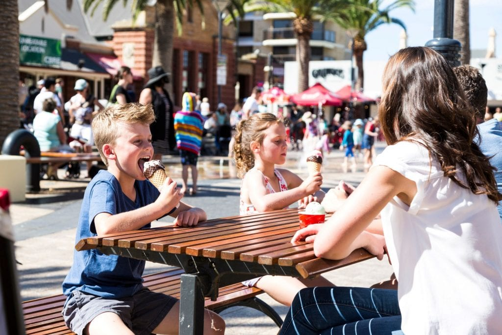 Cool down with a sweet treat at Moseley Square Credit: South Australian Tourism Commission/ Andre Castelluci