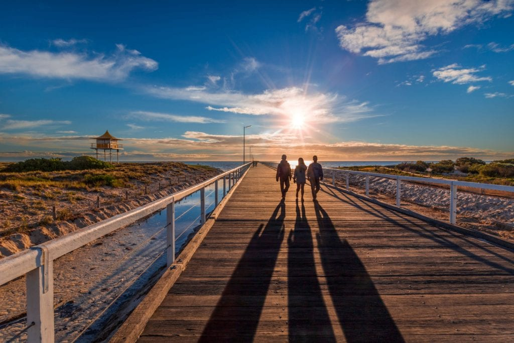 Sunset at Semaphore. Does it get any more stunning than that? Credit: Michael Waterhouse
