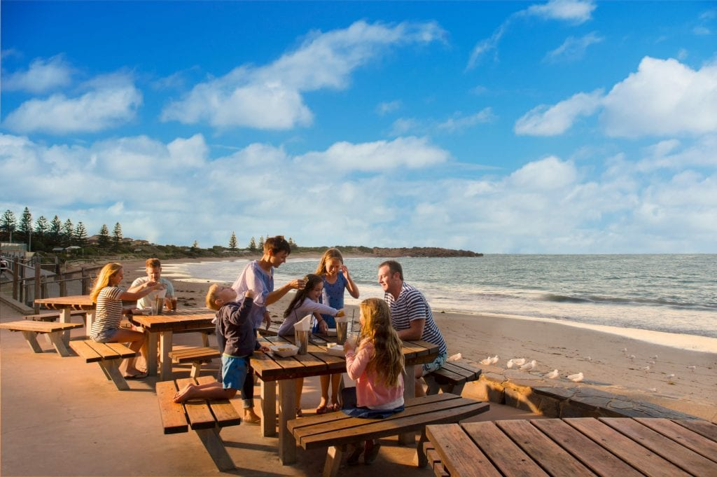 Grab a bite to eat from the famous Flying Fish Cafe. Credit: South Australian Tourism Commission/ Adam Bruzzone