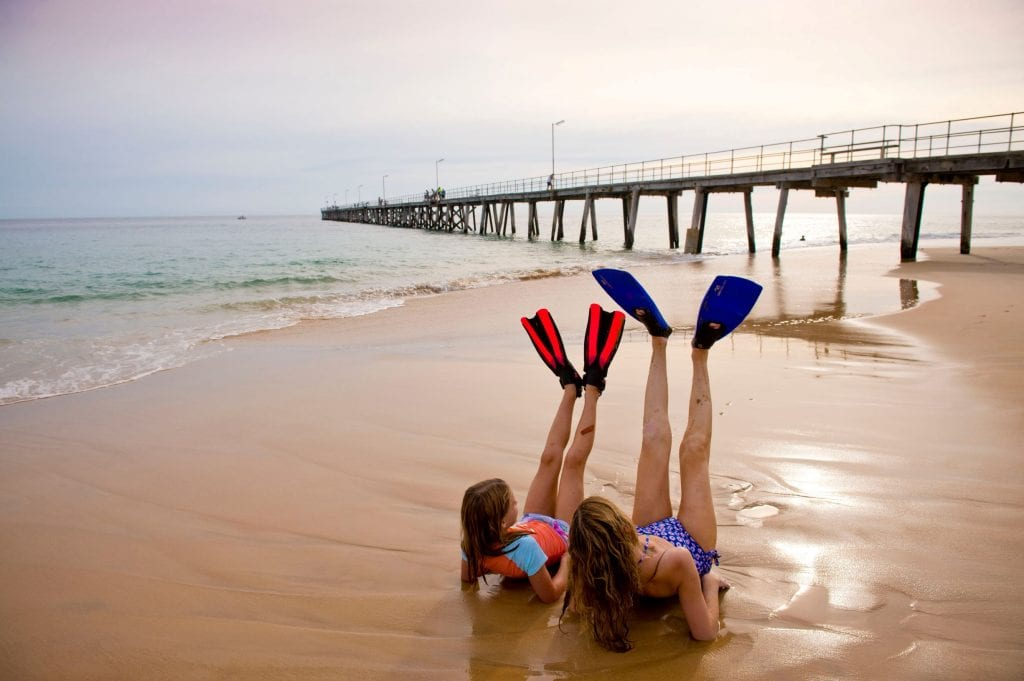 Pack your snorkelling gear for Port Noarlunga. Credit: South Australian Tourism Commission/ Adam Bruzzone