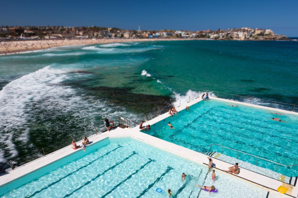 Bondi Icebergs is $6.50 on entry, but most ocean baths are free. Credit: Shutterstock