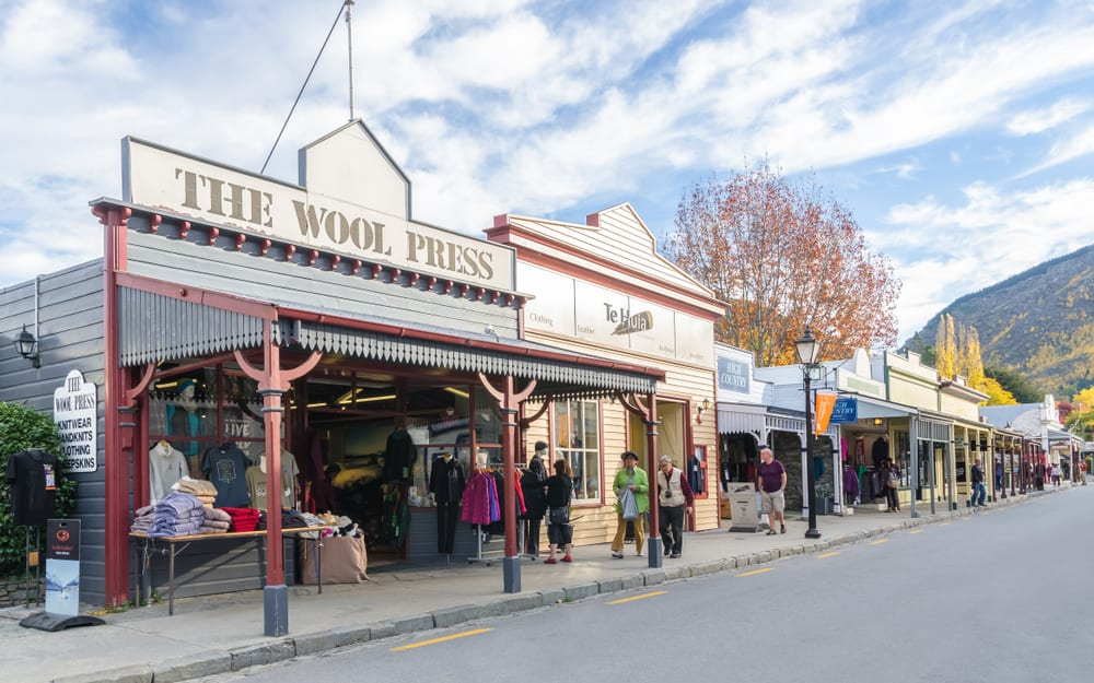 People can seen exploring around the Arrowtown at Buckingham Street.