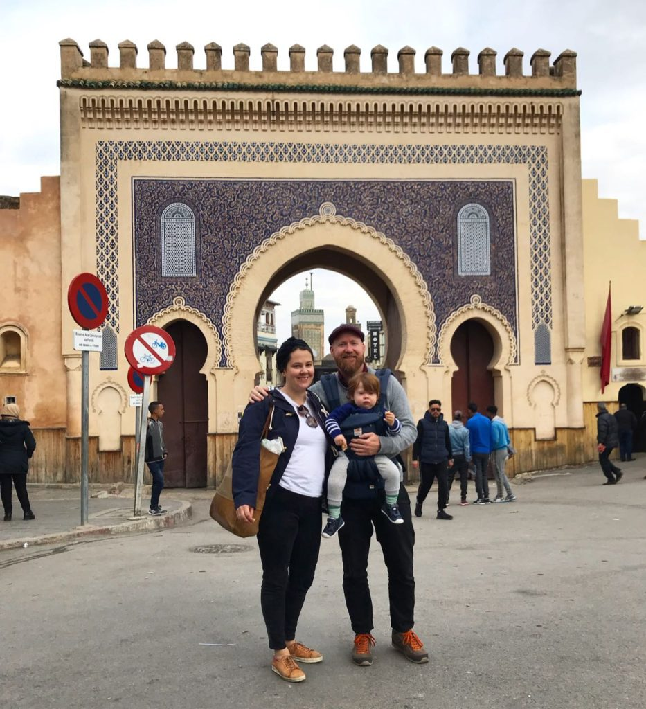Ben Jess and Angus in Fes, Morocco. Credit: Ben Groundwater