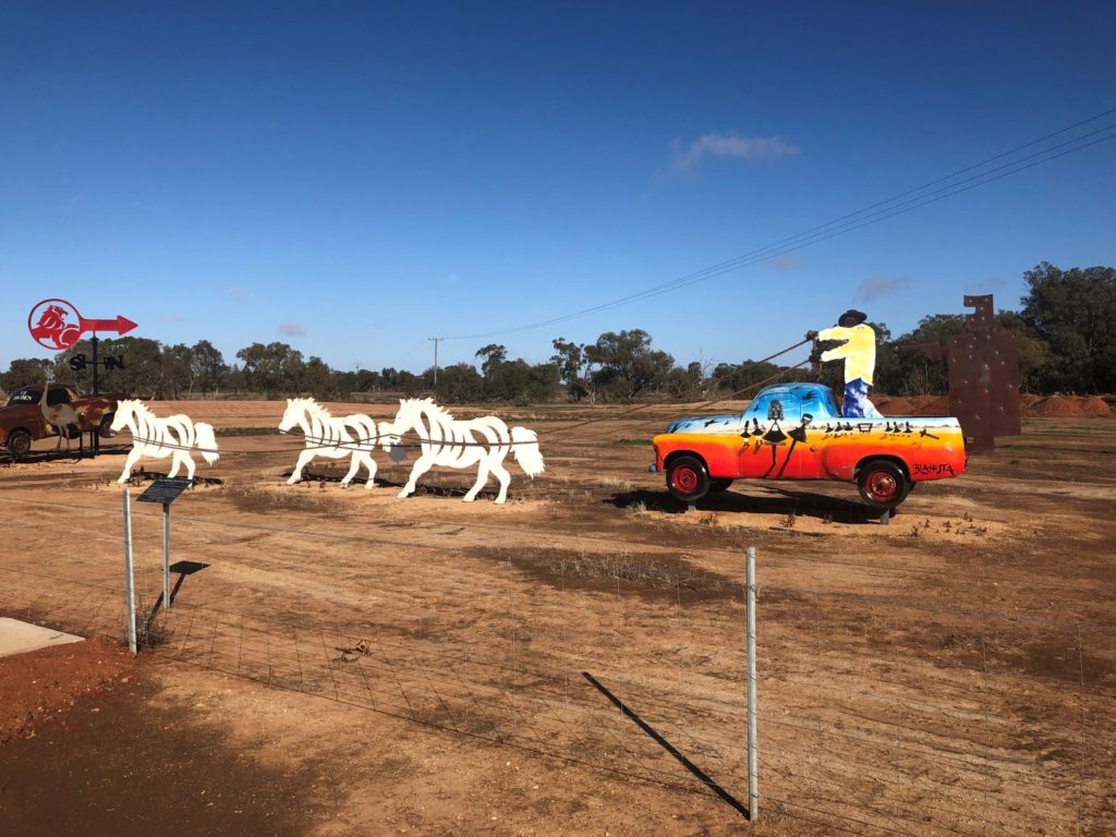 Condoblin Utes in the Paddock Central NSW