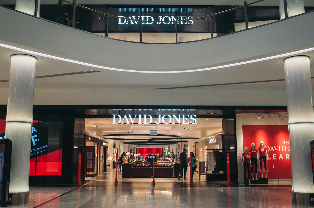 David Jones in Pacific Fair shopping Centre on the Gold Coast in Queensland, Australia. A good indoor activity for teens