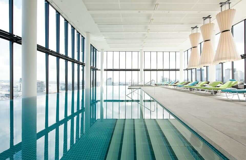 wet edge pool at the Crown Metropol in Melbourne